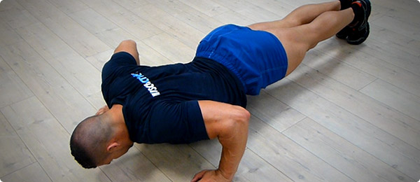 Exercice musculation pompes