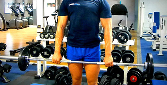 Shrug Barre musculation
