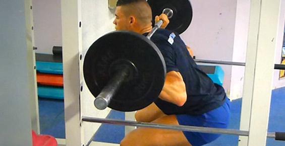 squat barre musculation